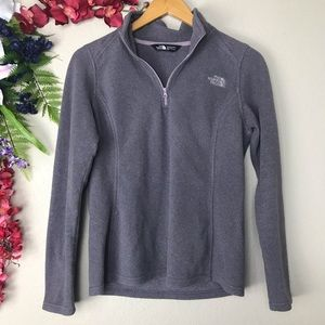 The North Face lavender/ gray 3/4 zip up pullover